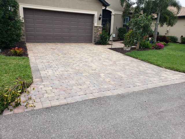 Driveway pavers without sealant at home in Immokalee, FL.